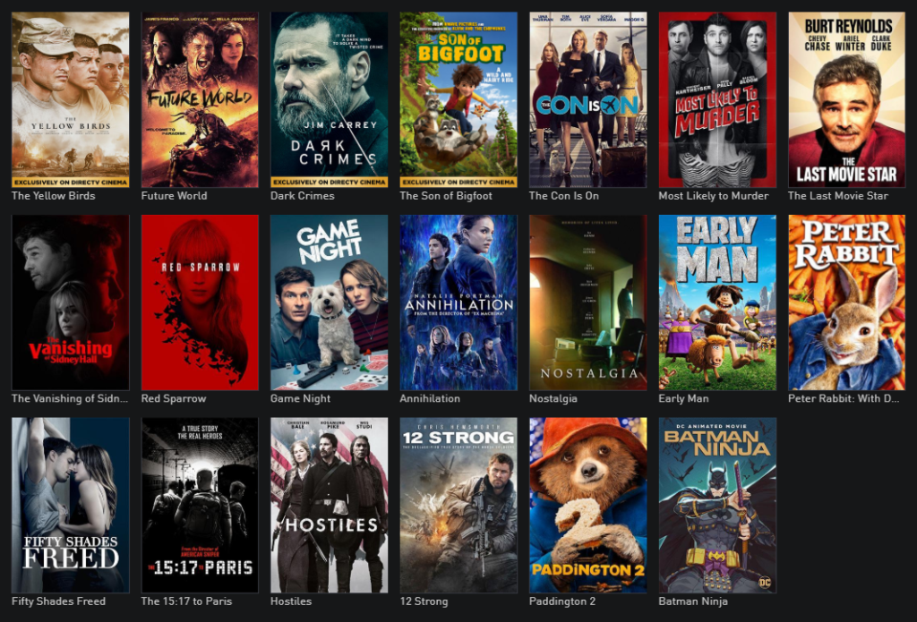 DIRECTV Cinema On Demand Movies