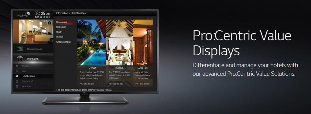 LG Hospitality TV