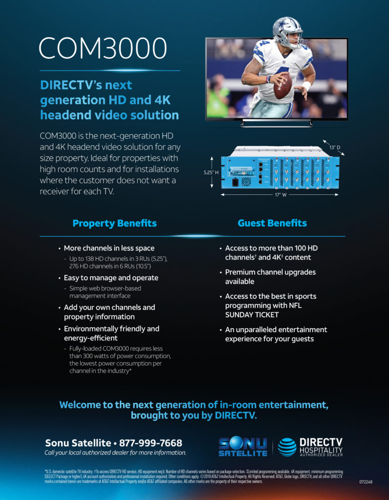 DIRECTV Com3000 Commercial Headend TV System